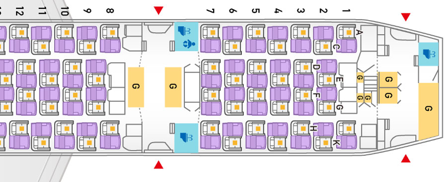 World Airline Seat Map Guide SKYTRAX - Us airways seat map