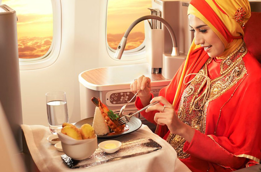 Garuda Business class meal