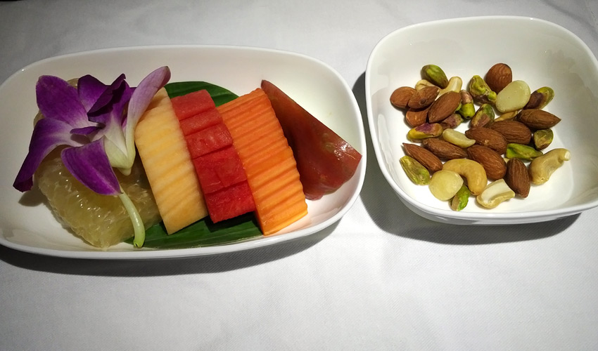 Sichuan Airlines fruit plate