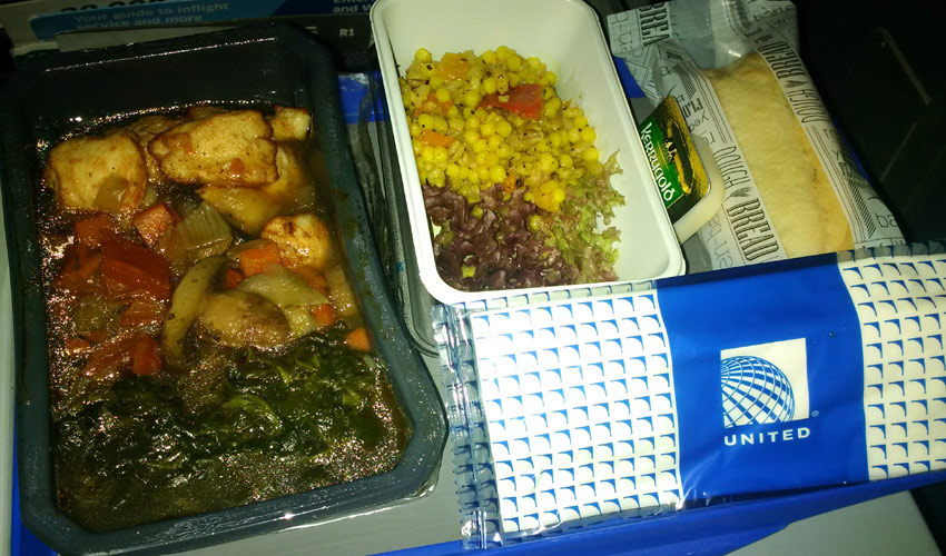 United Airlines economy lunch