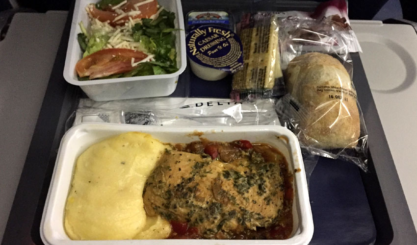 Delta Economy class meal