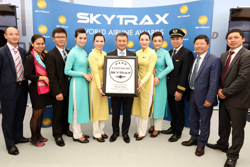 Vietnam Airlines granted 4-star certification by Skytrax