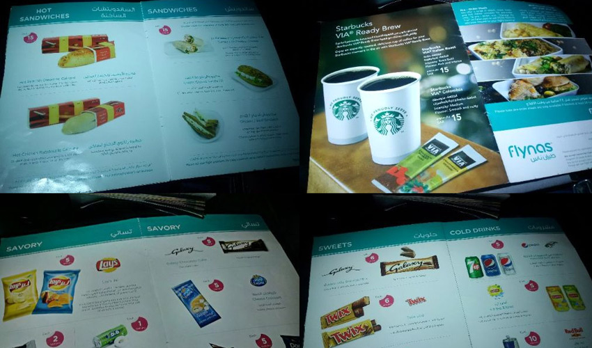 flynas menu