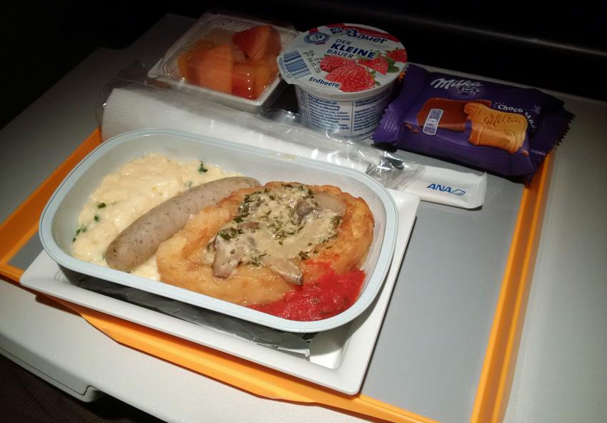 ANA economy class breakfast