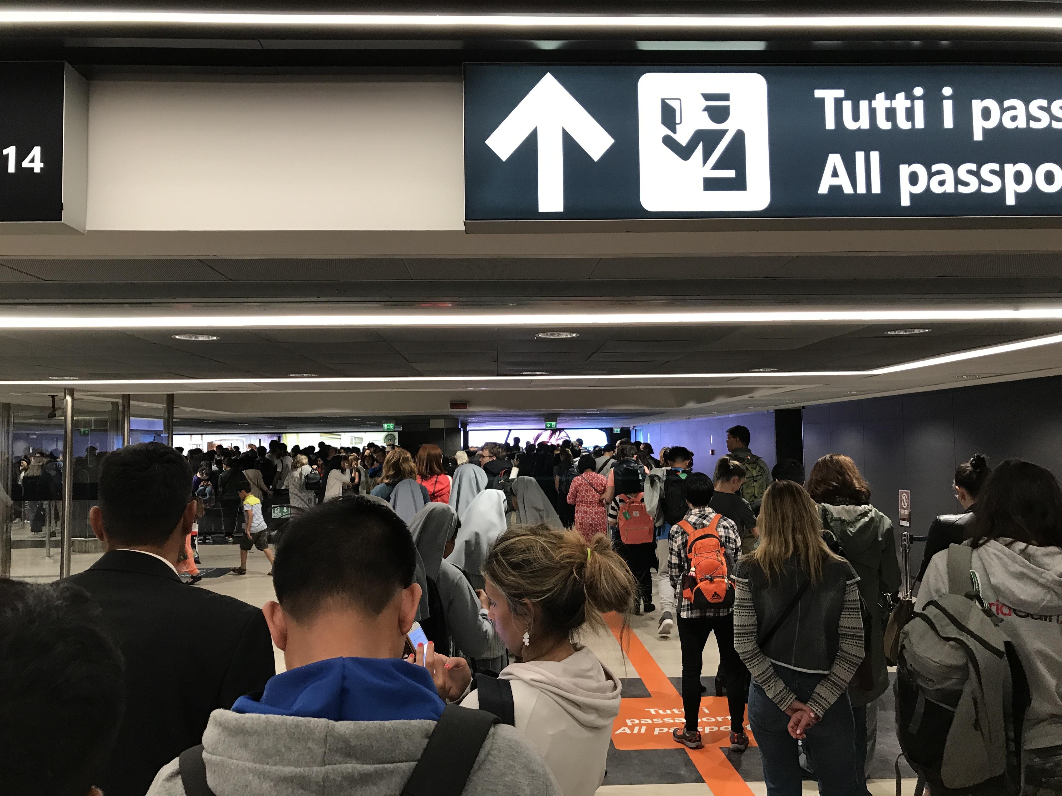 vliegveld in rome