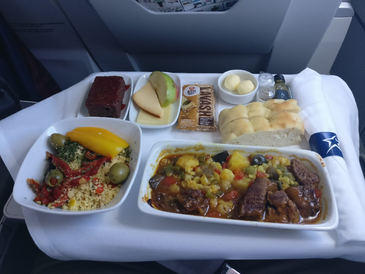 Air Transat meal